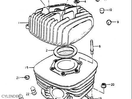 Suzuki Pe250 1977-1979 usa Cylinder