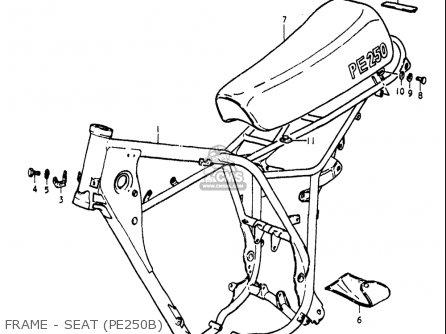 Suzuki Pe250 1977-1979 usa Frame - Seat pe250b