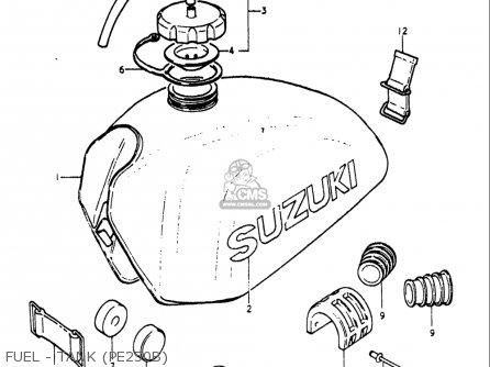 Suzuki Pe250 1977-1979 usa Fuel - Tank pe250b