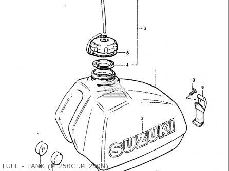 Suzuki Pe250 1977-1979 usa Fuel - Tank pe250c  pe250n