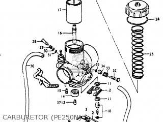 Suzuki Pe250 1977 b Usa e03 Carburetor pe250n