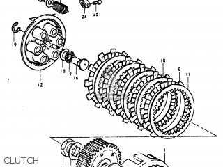 Suzuki Pe250 1977 b Usa e03 Clutch