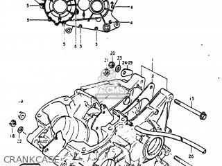Suzuki Pe250 1977 b Usa e03 Crankcase
