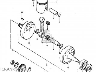 Suzuki Pe250 1977 b Usa e03 Crankshaft