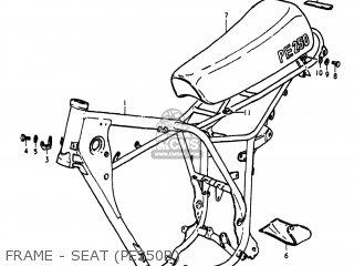 Suzuki Pe250 1977 b Usa e03 Frame - Seat pe250b