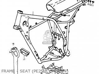 Suzuki Pe250 1977 b Usa e03 Frame - Seat pe250c  pe250n