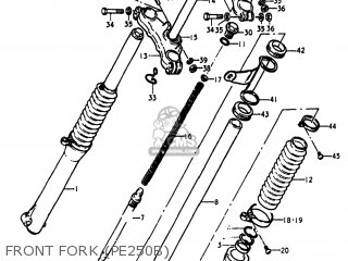 Suzuki Pe250 1977 b Usa e03 Front Fork pe250b