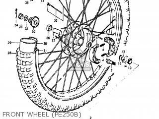 Suzuki Pe250 1977 b Usa e03 Front Wheel pe250b