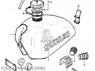 Suzuki Pe250 1977 b Usa e03 Fuel - Tank pe250b