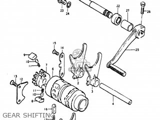 Suzuki Pe250 1977 b Usa e03 Gear Shifting