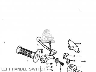 Suzuki Pe250 1977 b Usa e03 Left Handle Switch