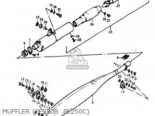 Suzuki Pe250 1977 b Usa e03 Muffler pe250b  pe250c
