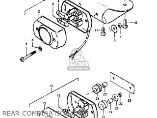 Suzuki Pe250 1977 b Usa e03 Rear Combination Lamp