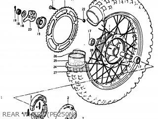 Suzuki Pe250 1977 b Usa e03 Rear Wheel pe250n