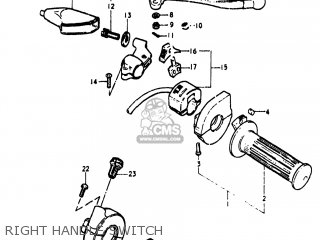 Suzuki Pe250 1977 b Usa e03 Right Handle Switch