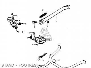 Suzuki Pe250 1977 b Usa e03 Stand - Footrest