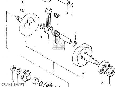 Suzuki Pe400 1981 X E01 E02 E06 E15 E24 Parts Lists And Schematics. Suzuki Pe400 1981 X E01 E02 E06 E15 E24 Crankshaft. Suzuki. Suzuki Pe400 Wiring Diagram At Scoala.co
