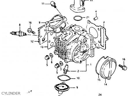 Suzuki Rb50 1987 H E01 Parts Lists And Schematics