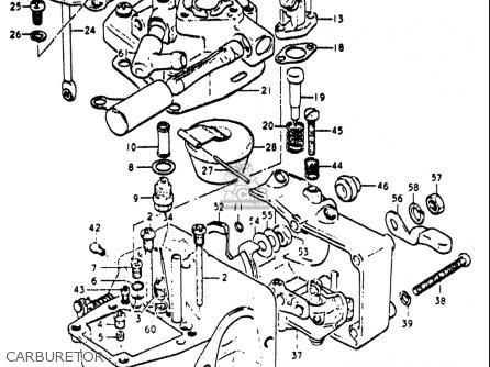 Suzuki Re5 M A 497cc Rotary 1975-1976 usa Carburetor