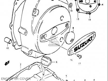 Suzuki Re5 M A 497cc Rotary 1975-1976 usa Engine Lh Cover