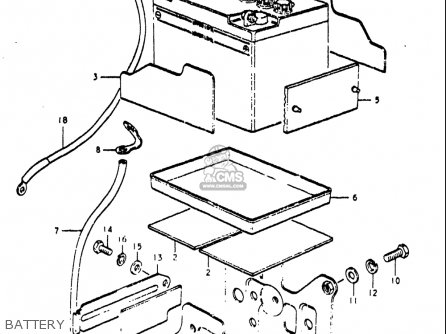 Suzuki Re5 Re5m Re5a 1975 1976 m a Usa e03   497cc Rotary Battery