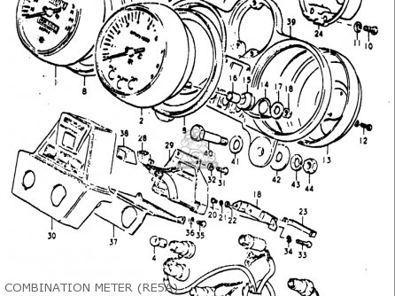 Suzuki Re5 Re5m Re5a 1975 1976 m a Usa e03   497cc Rotary Combination Meter re5a