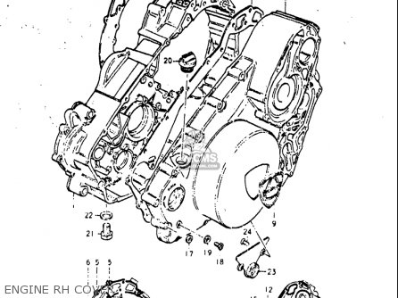 Suzuki Re5 Re5m Re5a 1975 1976 m a Usa e03   497cc Rotary Engine Rh Cover