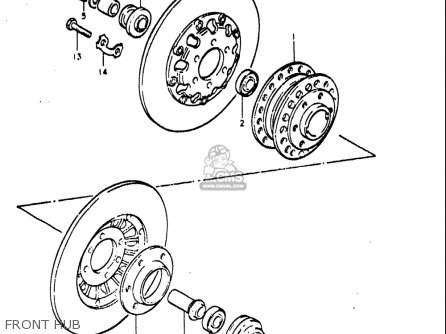 Suzuki Re5 Re5m Re5a 1975 1976 m a Usa e03   497cc Rotary Front Hub