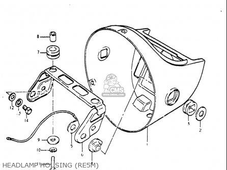 Suzuki Re5 Re5m Re5a 1975 1976 m a Usa e03   497cc Rotary Headlamp Housing re5m