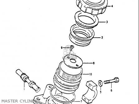 Suzuki Re5 Re5m Re5a 1975 1976 m a Usa e03   497cc Rotary Master Cylinder