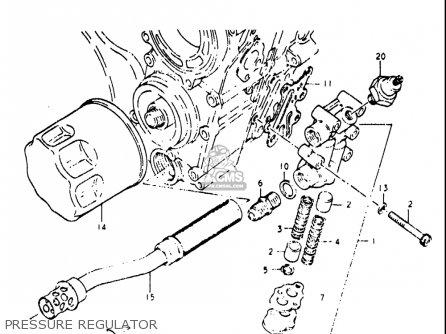 Suzuki Re5 Re5m Re5a 1975 1976 m a Usa e03   497cc Rotary Pressure Regulator