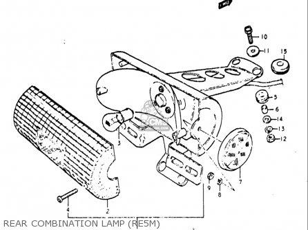 Suzuki Re5 Re5m Re5a 1975 1976 m a Usa e03   497cc Rotary Rear Combination Lamp re5m