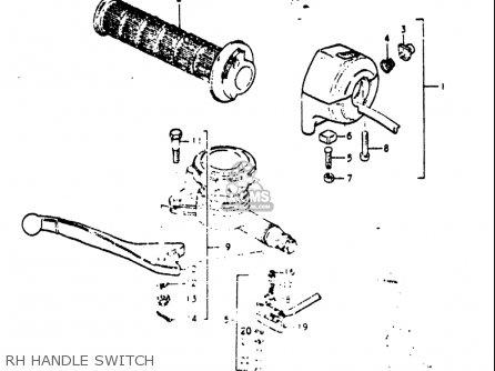 Suzuki Re5 Re5m Re5a 1975 1976 m a Usa e03   497cc Rotary Rh Handle Switch