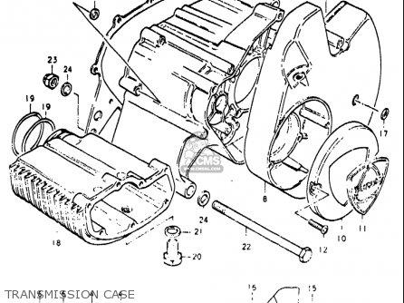 Suzuki Re5 Re5m Re5a 1975 1976 m a Usa e03   497cc Rotary Transmission Case