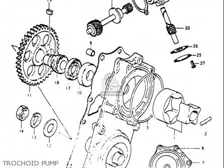 Suzuki Re5 Re5m Re5a 1975 1976 m a Usa e03   497cc Rotary Trochoid Pump