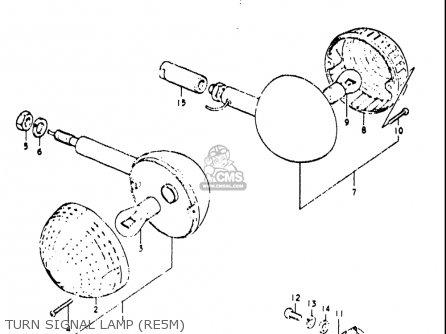 Suzuki Re5 Re5m Re5a 1975 1976 m a Usa e03   497cc Rotary Turn Signal Lamp re5m