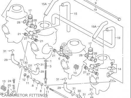 Suzuki Rf900 R 1994-1997 usa Carburetor Fittings