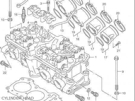 Suzuki Rf900 R 1994-1997 usa Cylinder Head