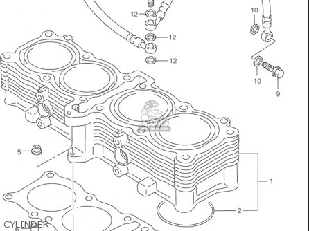 Suzuki Rf900 R 1994-1997 usa Cylinder