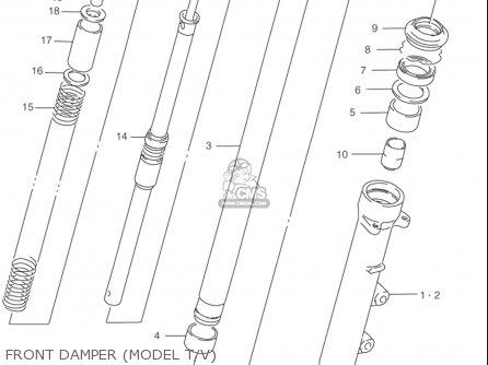 Suzuki Rf900 R 1994-1997 usa Front Damper model T v