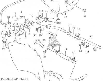 Suzuki Rf900 R 1994-1997 usa Radiator Hose