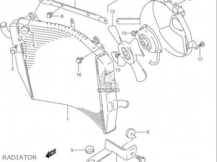 Suzuki Rf900 R 1994-1997 usa Radiator