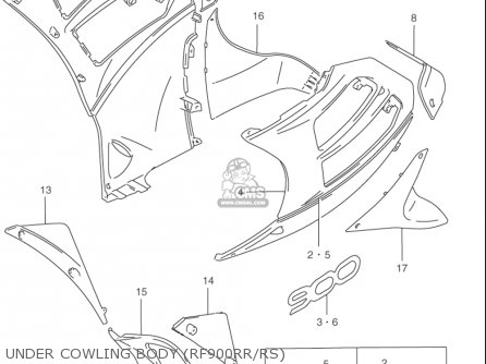 Suzuki Rf900 R 1994-1997 usa Under Cowling Body rf900rr rs