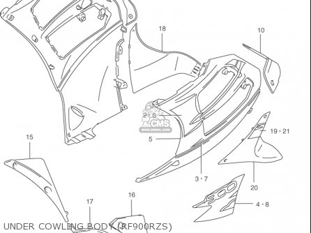 Suzuki Rf900 R 1994-1997 usa Under Cowling Body rf900rzs