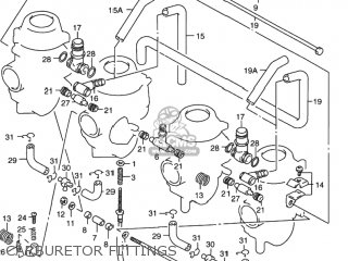 Suzuki Rf900r 1994 r Usa e03 Carburetor Fittings