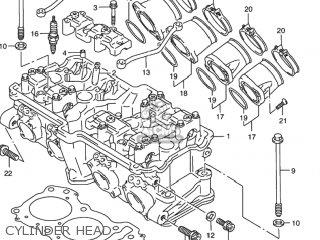 Suzuki Rf900r 1994 r Usa e03 Cylinder Head