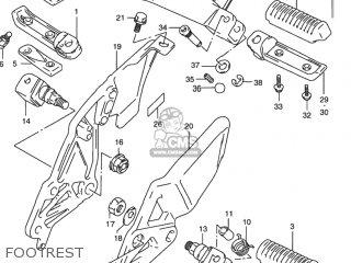 Suzuki Rf900r 1994 r Usa e03 Footrest
