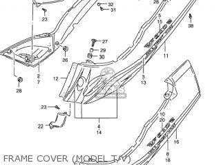 Suzuki Rf900r 1994 r Usa e03 Frame Cover model T v