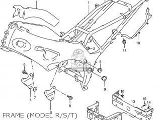 Suzuki Rf900r 1994 r Usa e03 Frame model R s t