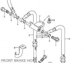 Suzuki Rf900r 1994 r Usa e03 Front Brake Hose